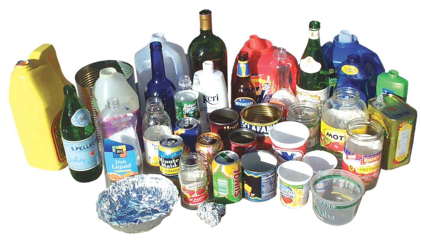 Recyclable items at home