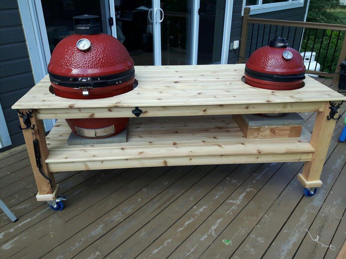 Kamado Space Table for Kamado Joe BBQ Models